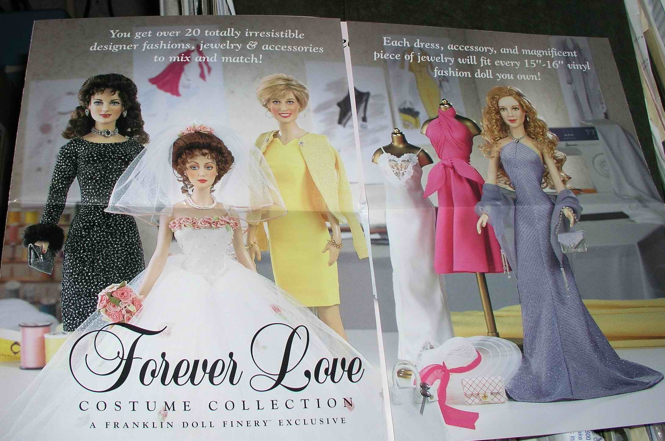 Franklin Mint Forever Love Collection Night To Remember Ensemble For Vinyl Doll